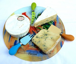 Cheese serving on a platter