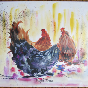 Purple Preen Seving mat