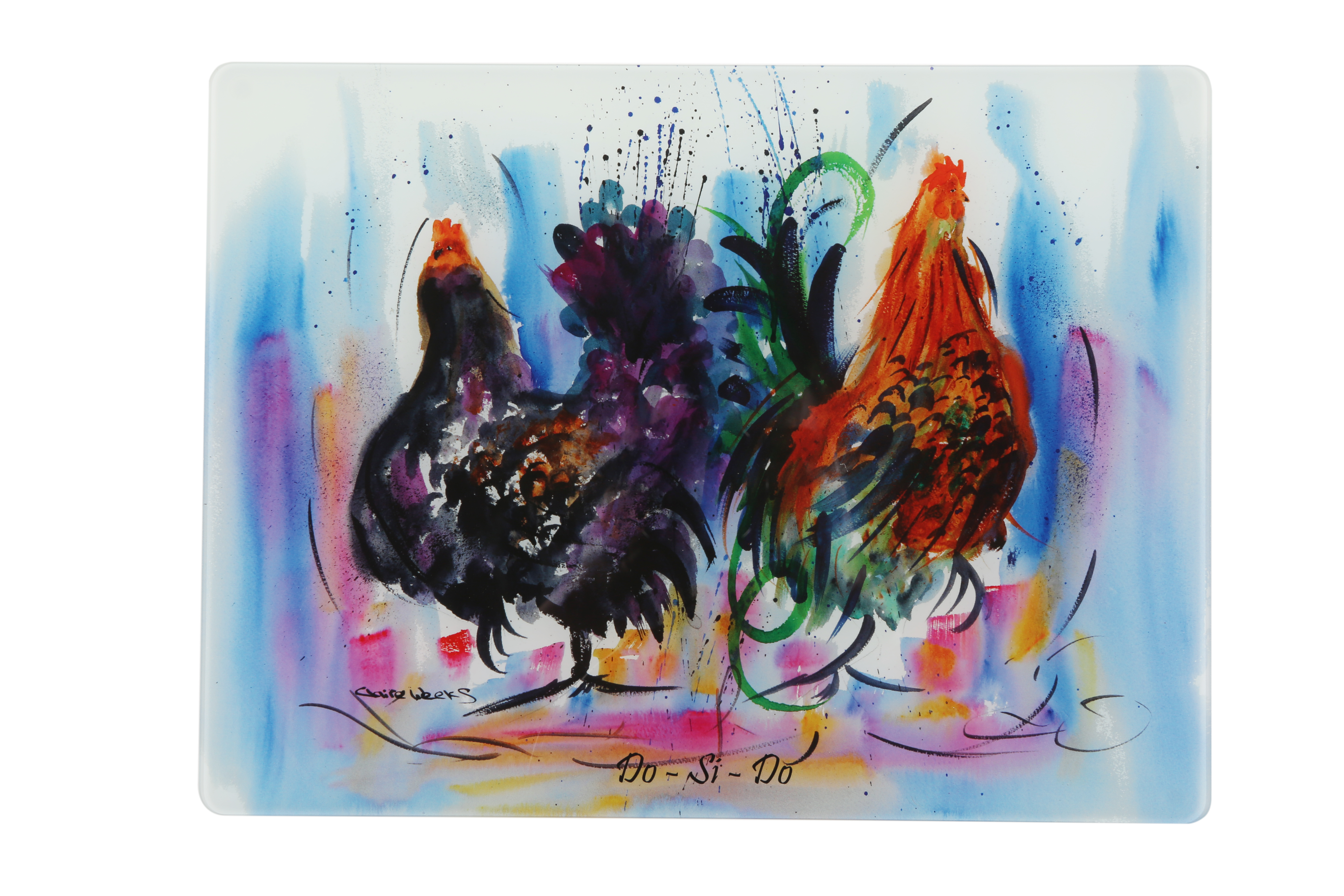Hen and cockerel heat resistant work top saver